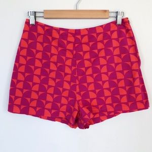 Forever 21 Geometric Print High Waisted Shorts
